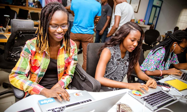 female boot camp run by Andela in Lagos, Nigeria.jpg